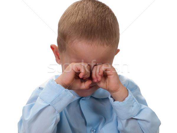 Mały dziecko smutek twarz patrząc poważny Zdjęcia stock © ia_64