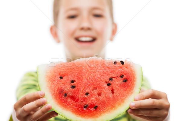 élégant souriant enfant garçon rouge Photo stock © ia_64