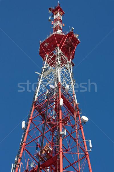 Televisão antena comunicação céu torre Foto stock © ia_64