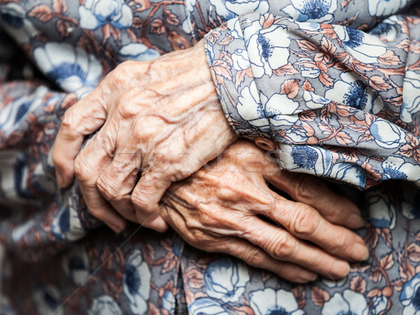 Very old woman hands Stock photo © ia_64