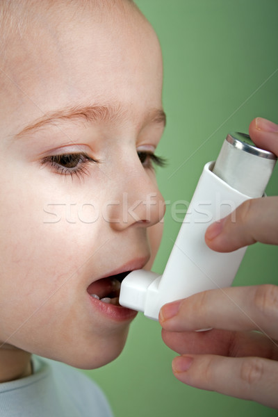 Stock photo: Asthmatic inhaler