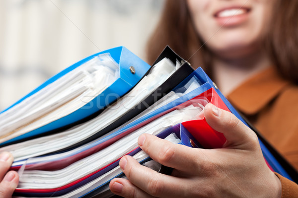 Business paper files in hand Stock photo © ia_64