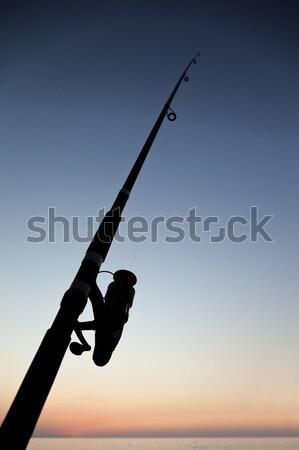 Canne à pêche mer plage pêcheur sport hobby Photo stock © ia_64