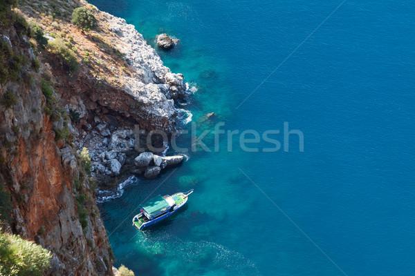 дайвинг судно синий морем горные пляж Сток-фото © ia_64