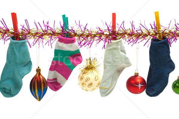 Christmas sock Stock photo © ia_64