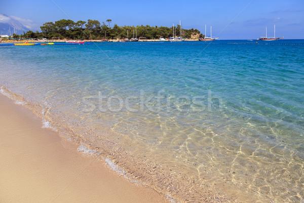 Moonlight park sand beach resort of Turkey Kemer Stock photo © ia_64
