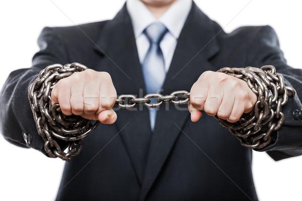 ビジネスマン 金属 チェーン 手 ビジネス 問題 ストックフォト © ia_64