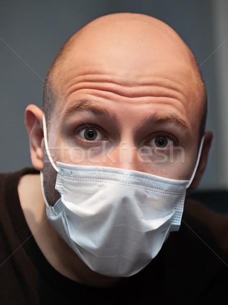 Man in medicine mask Stock photo © ia_64
