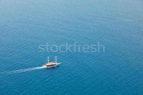 Ship or boat sailing sea Stock photo © ia_64