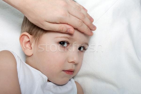 Kind koorts weinig ziekte geneeskunde griep Stockfoto © ia_64