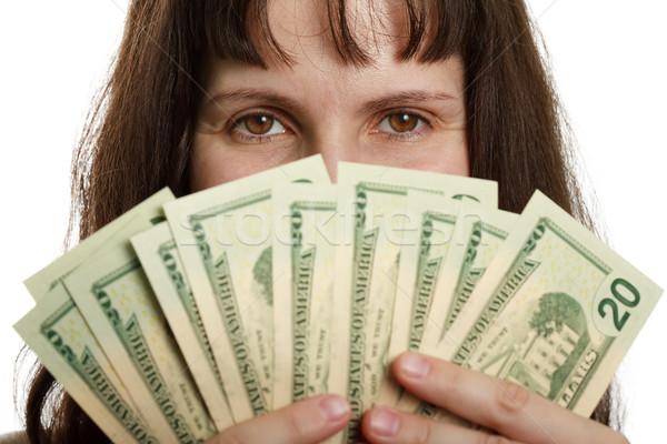 Dollaro valuta mano finanziare imprenditrici Foto d'archivio © ia_64