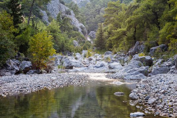 Gorge Goynuk Canyon Park at Turkey Antalya Stock photo © ia_64
