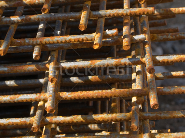 Steel construction of structure building industry Stock photo © ia_64