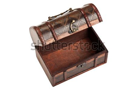 Kincsesláda öreg antik barna fa doboz Stock fotó © ia_64
