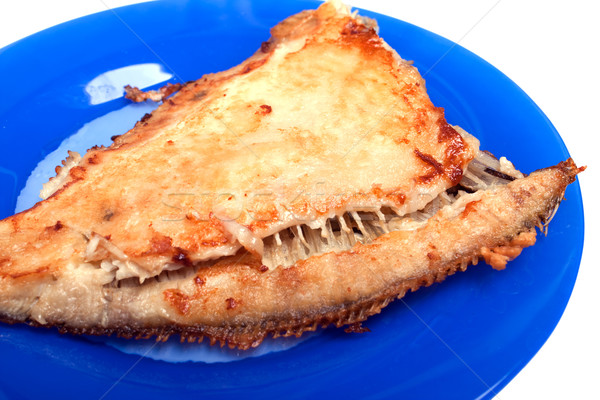 Hal étel egészséges étkezés tengeri hal előkészített sült Stock fotó © ia_64