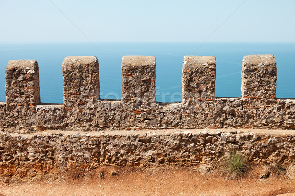 Sea and sky view from Alanya castle wall Stock photo © ia_64