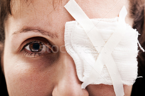 Plaster patch on wound eye Stock photo © ia_64