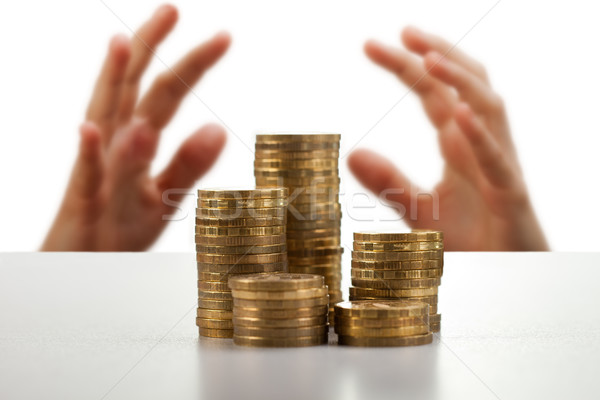 Greed hands catching money Stock photo © ia_64
