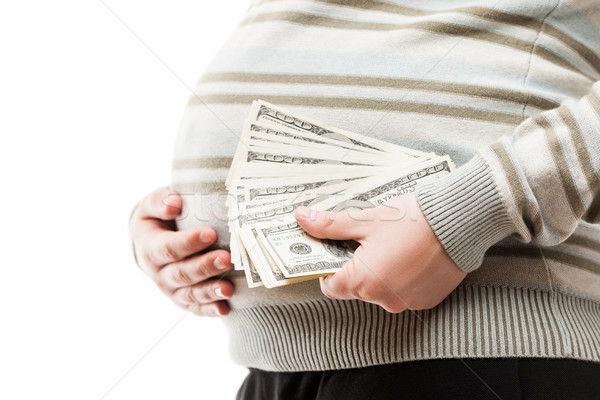 妊婦 ドル 通貨 現金 妊娠 ストックフォト © ia_64