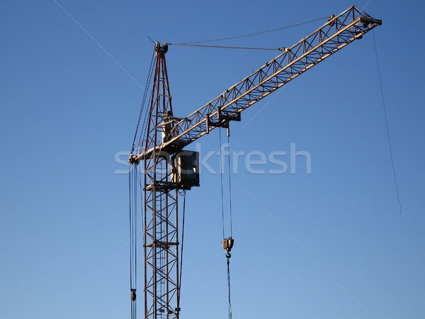 Tower crane building metal construction Stock photo © ia_64