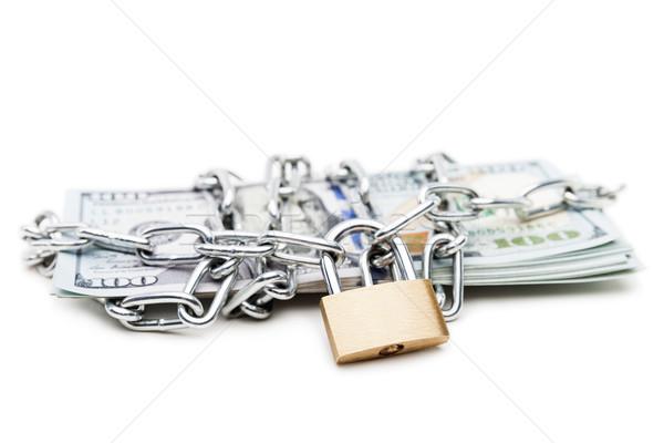 цепь ссылку замок доллара валюта деньги Сток-фото © ia_64