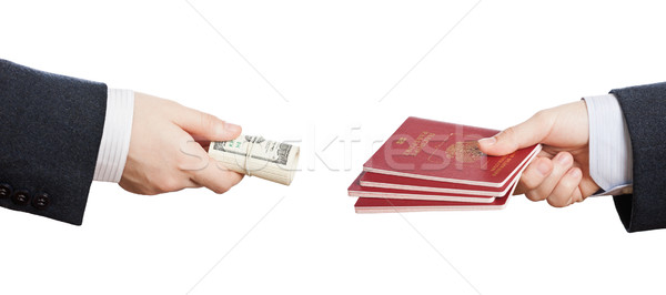 Buying fake or forged passport document Stock photo © ia_64