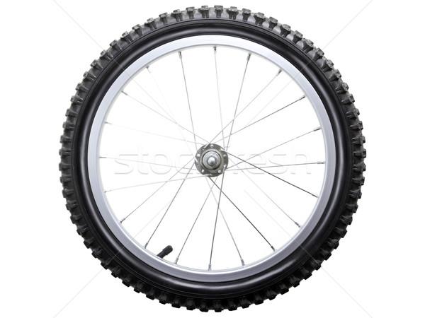 Bicicletta ruota sport pneumatico ha parlato metal Foto d'archivio © ia_64