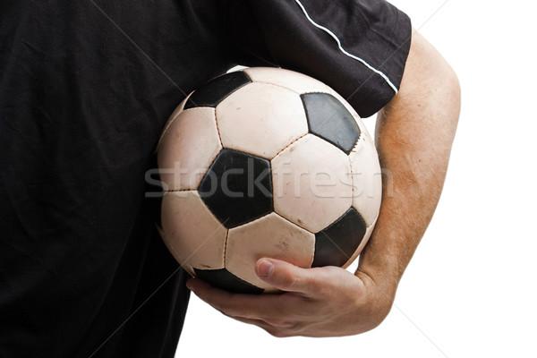 Stockfoto: Voetbal · zwart · wit · voetbal · voetbal · sport · bal