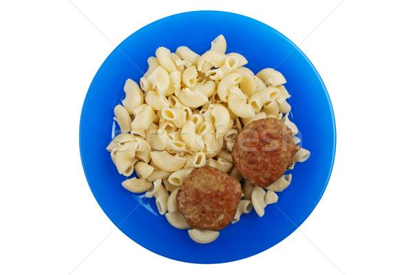 Сток-фото: макароны · продовольствие · мяса · жареный · обеда · еды