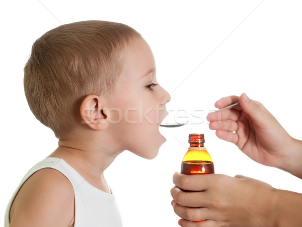 Gyógyszer szirup folyadék influenza hideg egészségügy Stock fotó © ia_64