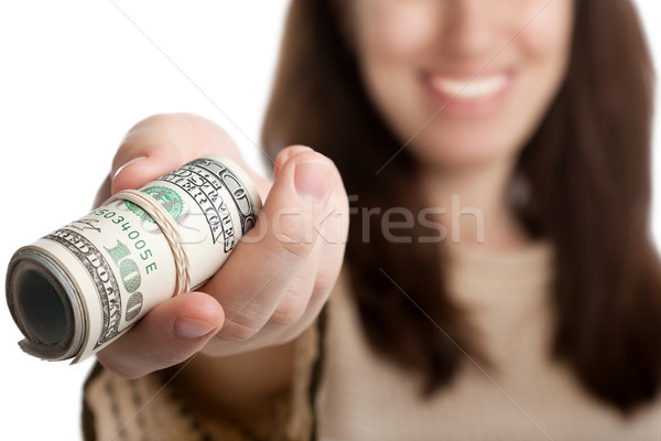 Dollar currency in hand Stock photo © ia_64