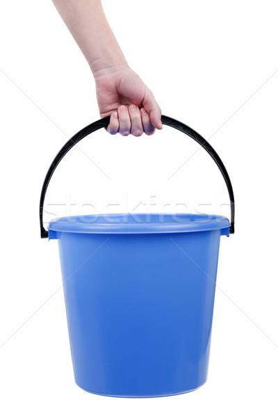 Plastic bucket in hand Stock photo © ia_64