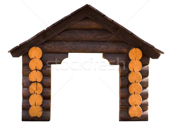 House log wall Stock photo © ia_64