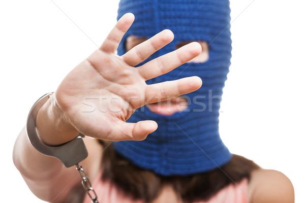 женщину сокрытие лице русский протест движения Сток-фото © ia_64