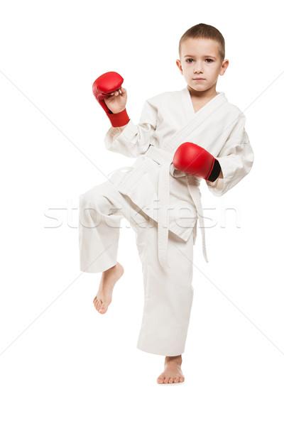 ребенка мальчика кимоно подготовки каратэ Сток-фото © ia_64