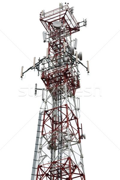 Antenne tour téléphone portable communication téléphone téléphone Photo stock © ia_64