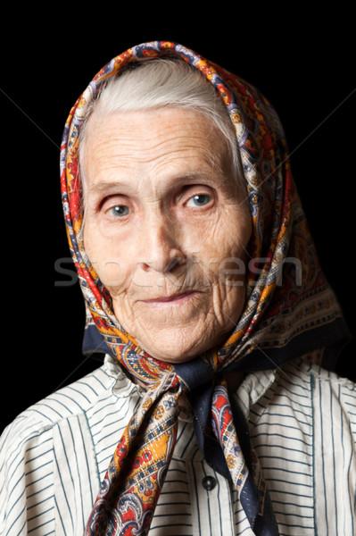 Oude vrouwen veroudering procede senior lachend gezicht Stockfoto © ia_64