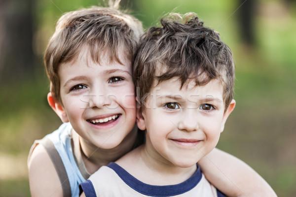 Dwa brat chłopców rodziny szczęścia mały Zdjęcia stock © ia_64