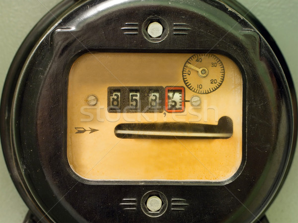 Electricity supply meter Stock photo © ia_64