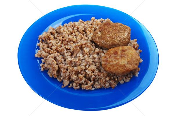 Cutlet buckwheat food Stock photo © ia_64