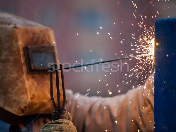 Işçi maske kaynak Metal Stok fotoğraf © ia_64