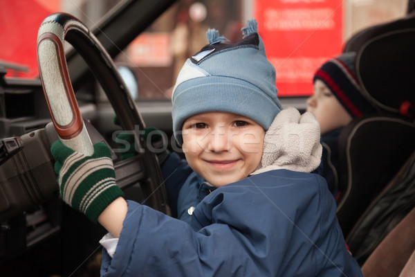 Child driving Stock photo © ia_64