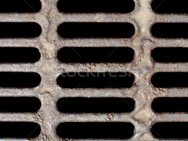 égout vieux rouillée métal eau construction Photo stock © ia_64