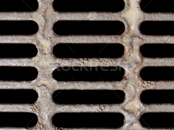 Riool oude roestige metaal water bouw Stockfoto © ia_64