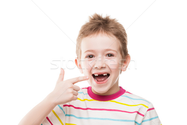 First baby milk or temporary teeth fall out Stock photo © ia_64
