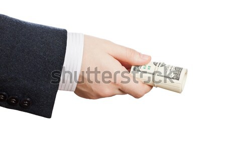 Dollaro valuta mano uomo d'affari Foto d'archivio © ia_64