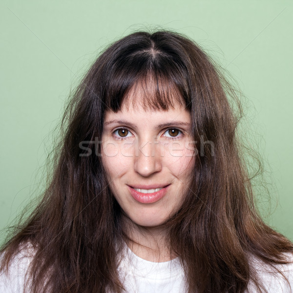 Beleza cabelo mulheres moda penteado cuidados com os cabelos Foto stock © ia_64