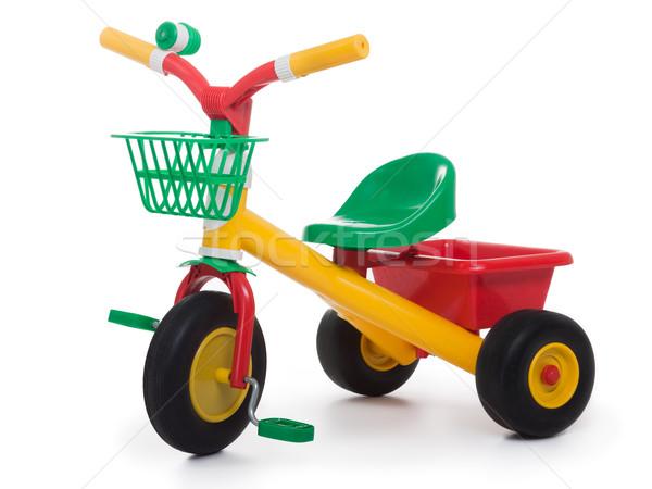 çocuk bisiklet üç tekerlekli bisiklet tekerlek bisiklete binme oyuncak Stok fotoğraf © ia_64