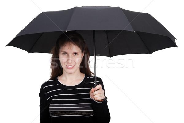 Mulheres guarda-chuva mão chuva molhado Foto stock © ia_64