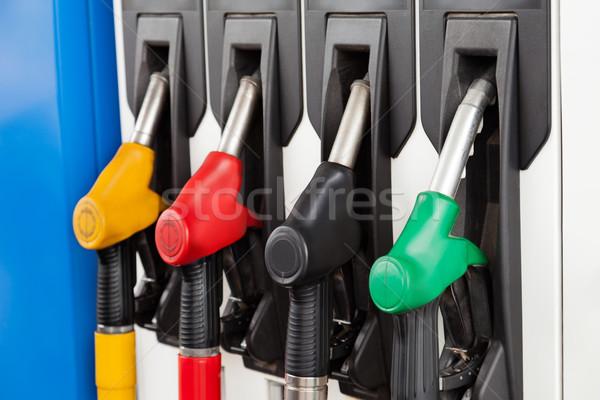 Gázolaj állomás üzemanyag benzinkút benzin benzinpumpa Stock fotó © ia_64